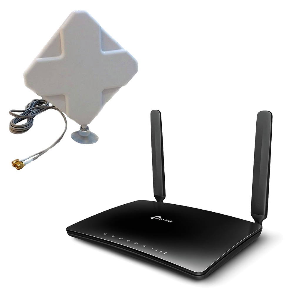 Tp Link TL MR6400 Router 4G WiFi con Antena 4G interior panel