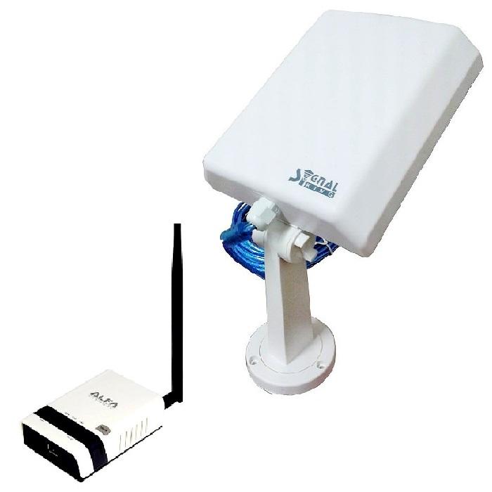 Signal King SK 10TN Antena WiFi USB largo alcance 10 metros con router alfa r36