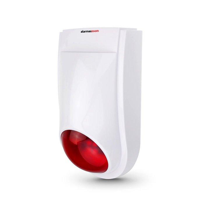 Sirena 120db Inalambrica Exterior Alarma Conector Jack OFS03U