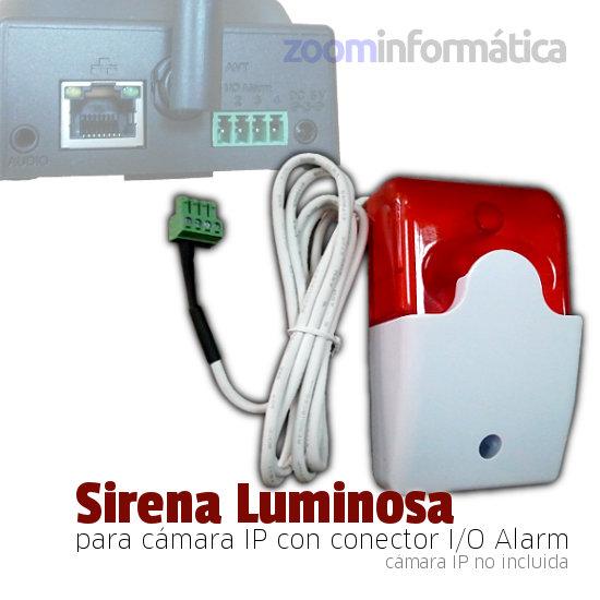 NeoCoolCam Sirena alarna conector salida camara IP