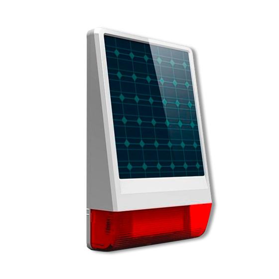 Sirena Alarma exterior luminosa Con Placa solar y bateria OFS04