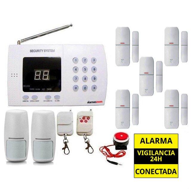 Kit alarma casa Linea Fija 5 Sensores de apertura puertas AZ011 2