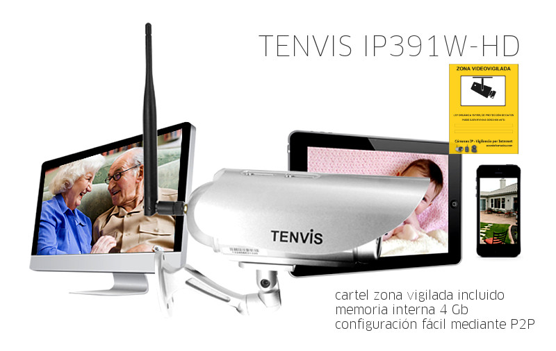 Tenvis IP391W HD 32GB