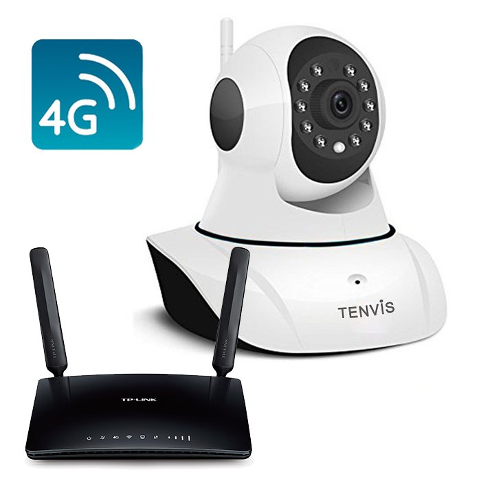 Tenvis T8810D Camara IP WiFi Full HD con Router 4G MR6400