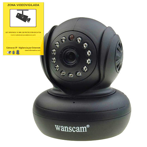 WANSCAM JW0004 B IP CAMARA WIFI VIDEO VIGILANCIA WANSCAM JW0004 negro INTERIOR SEGURIDAD CAMERA