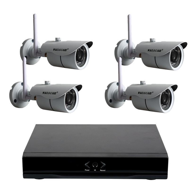 WANSCAM HL0162  4 HW0043 Camaras Grabador NVR