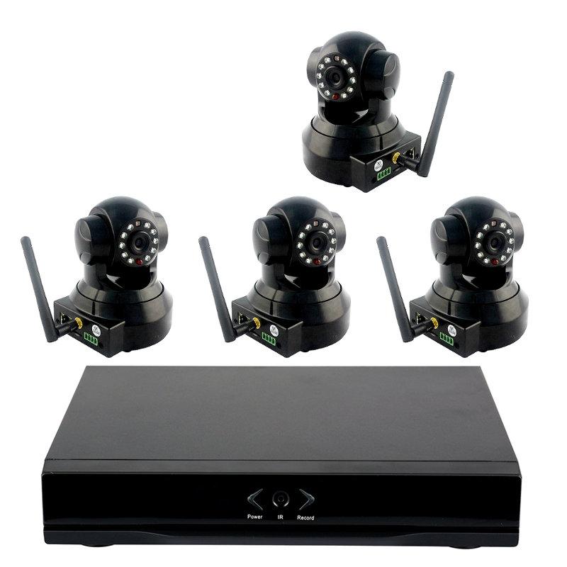 Grabador NVR Wanscam HL0162 con 4 Camaras IP HW0024