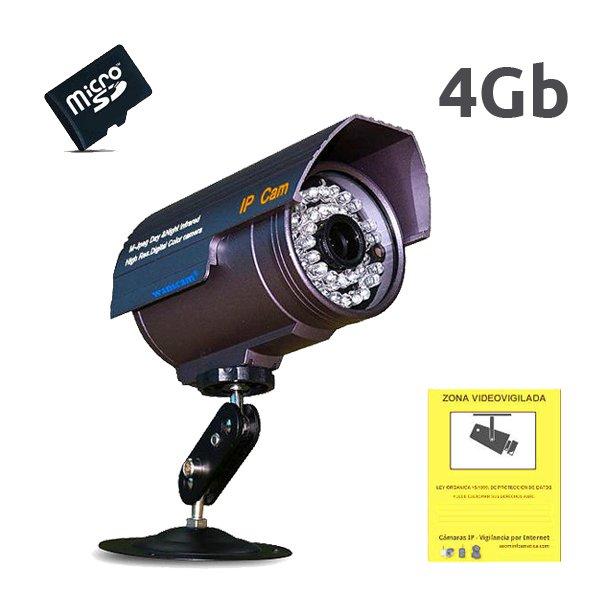 WANSCAM HW0027 4GB WANSCAM CAMARA IP EXTERIOR HW0027 4Gb VISION NOCTURNA SLOT MICRO SD PARA GRABACION