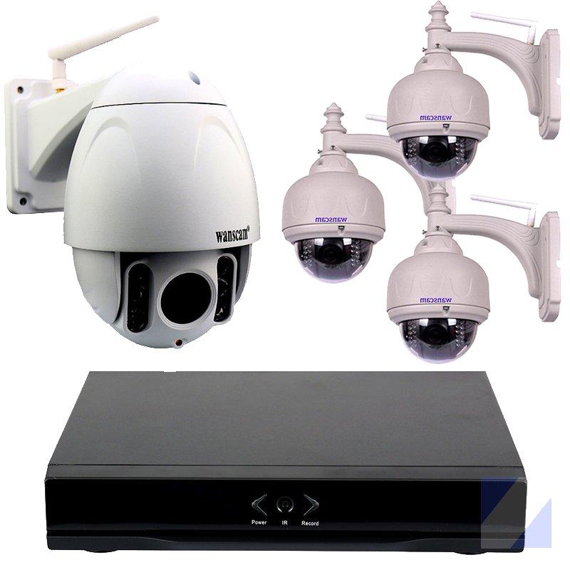 Wanscam Grabador NVR HL0162 3 Camaras IP exterior HW038 1 HW0045 FULL HD