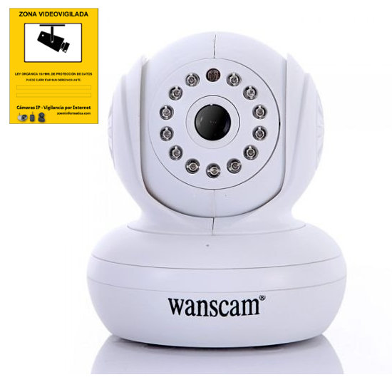 Wanscam JW0004 W JW0004 W WANSCAM IP CAMARA WIFI VIDEO VIGILANCIA WANSCAM JW0004 BLANCO INTERIOR SEGURIDAD CAMERA