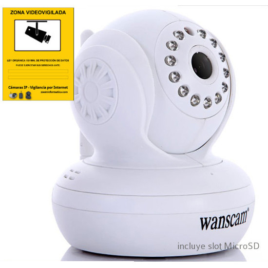Wanscam HW0021 Camara IP WiFi interior color blanca Resolucion HD 720p Reacondicionada