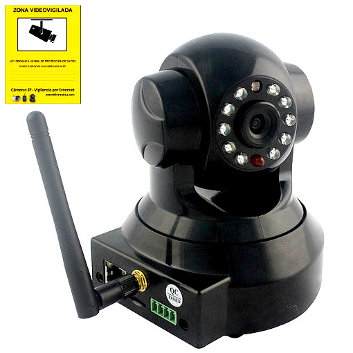 Wanscam JW0012 Camara IP Negro WiFi P2P vigilancia desde movil Reacondicionada