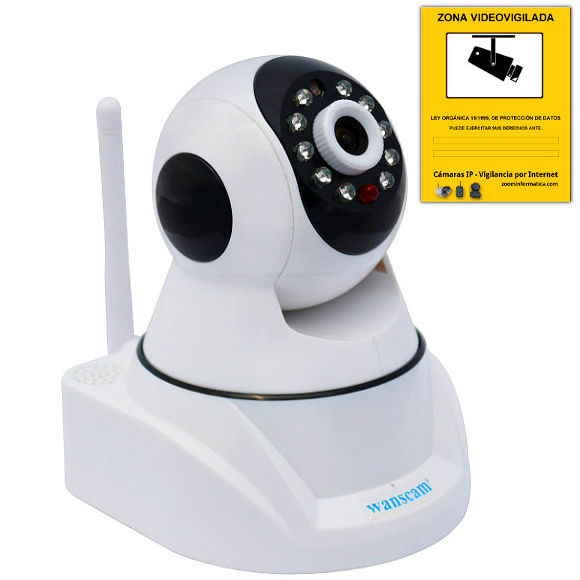 Wanscam HW0030 Camara IP WiFi P2P inalambrica seguridad Reacondicionada