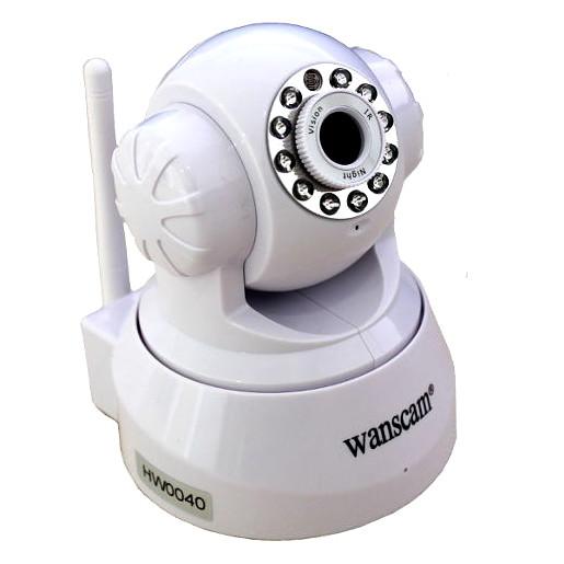 Wanscam HW0040 Camara IP WiFi interior color blanca Alta resolucion HD Con ranura memoria grabacion