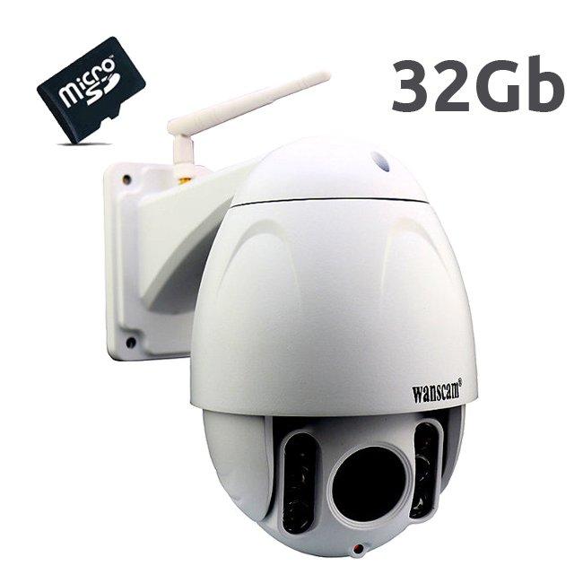 Wanscam HW0045 Camara de seguridad IP exterior motorizada Full HD memoria interna 32Gb leds 80metros