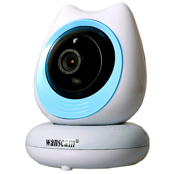 Wanscam HW0048 Camara IP WiFi vigilabebes color azul Vision remota movil
