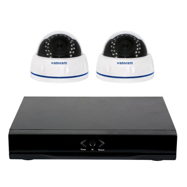 WANSCAM 4 HW0031 Y HL0162 KIT Videograbacion WANSCAM HL0162 4 camaras domo techo para interior HD WiFi