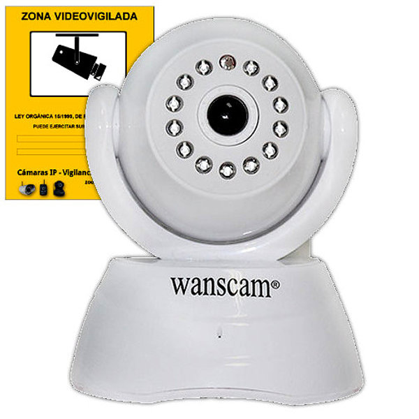 Wanscam JW0003 Camara IP Blanca WiFi P2P VGA vision remota movil APP Reacondicionado
