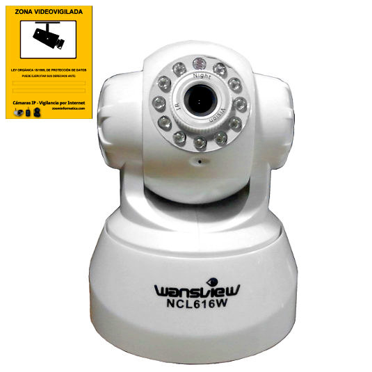 Wansview NCL616W W Camara IP WiFi Blanca Motorizada Interior VGA Reacondicionada
