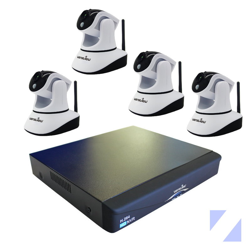 WANSVIEW NVR903 Y 4 NCM631GB KIT WANSVIEW GRABADOR NVR NVR903 CON 4 CAMARAS IP INTERIOR NCM631GB