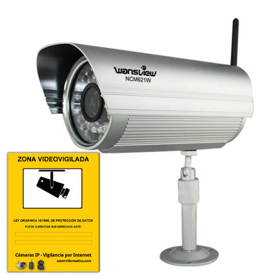 Camara WiFi Wansview NCM621W exterior con memoria 8Gb interna Reacondicionada