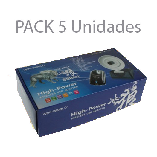 WiFi World Pack 5 Antenas WiFi USB 8000mw Realtek 8187L