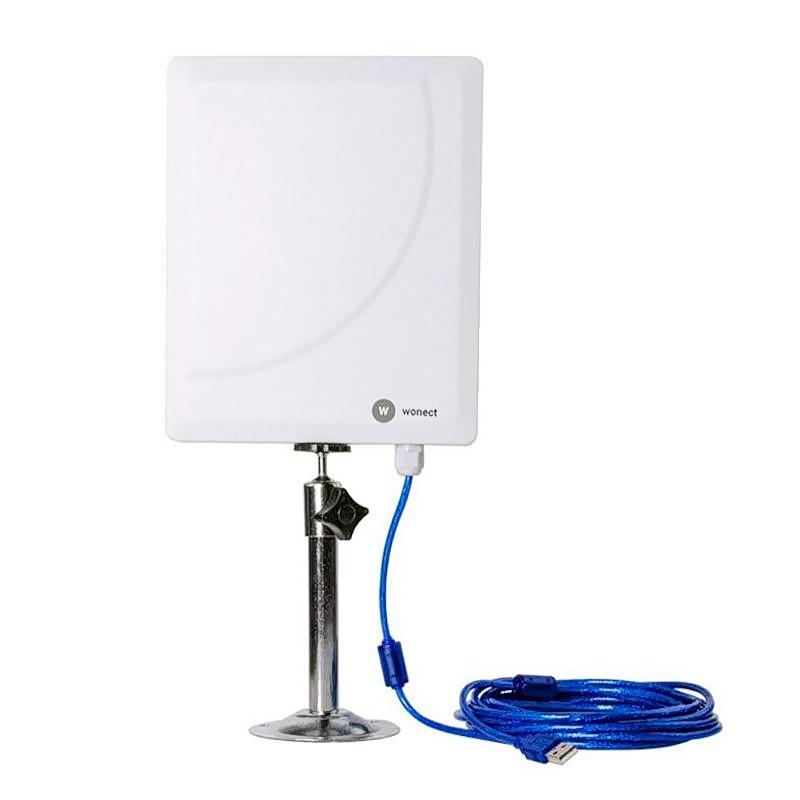 Wonect W519D Antena WiFi Panel USB cable 5 metros AC600 Realtek RTL8811