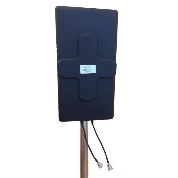Antena 4G Panel 50dBi LTE Largo alcance Exterior Conector N Hembra