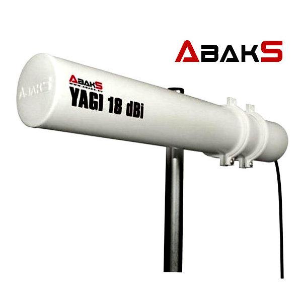 ABAKS YAGI ABAKS 18DBI 15M ANTENA WIFI YAGI ABAKS 18dBi  conector N  15 metros